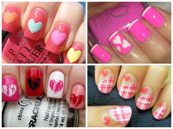 https://www.facebook.com/leovandesign   #nailpolish #manicure #pedicure #polish #nail #design #valentine #heart #pink #red
