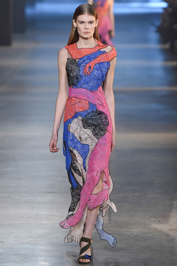 christopher-kane-tait-rtw-fw15-runway-46 – Vogue  A great example of fauvist palette in fashion.