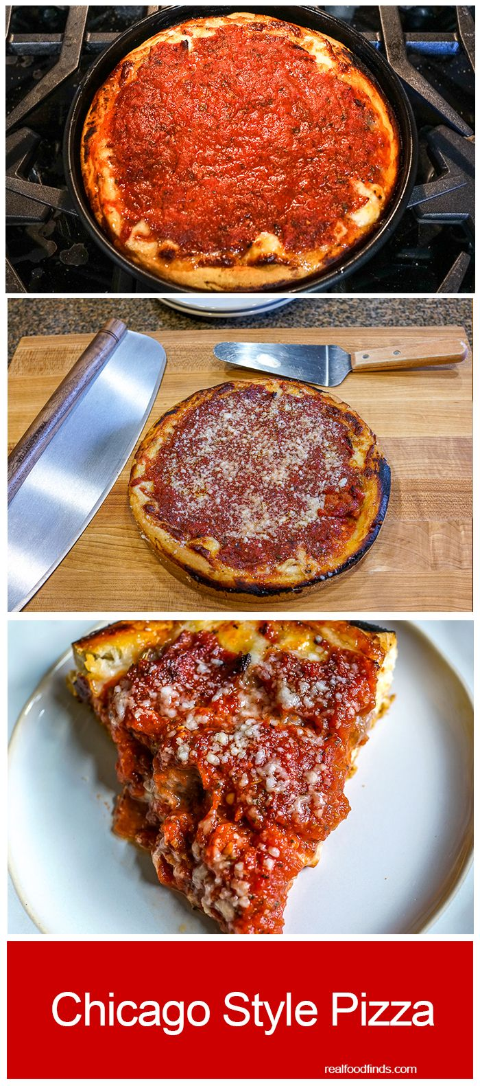 Chicago Style Pizza by Real Food Finds
