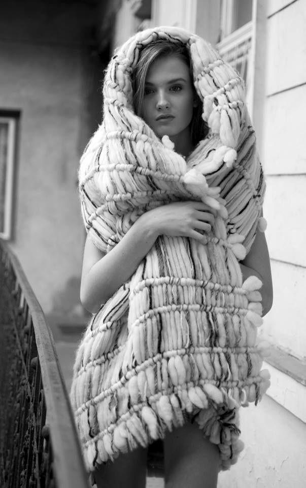 Collection of woolen women's clothing by Jana Mikešová #wool #fashion #macrame #dress #janamikesova #shooting #photo #budapest https://www.facebook.com/JanaMikesovaFashionDesigner