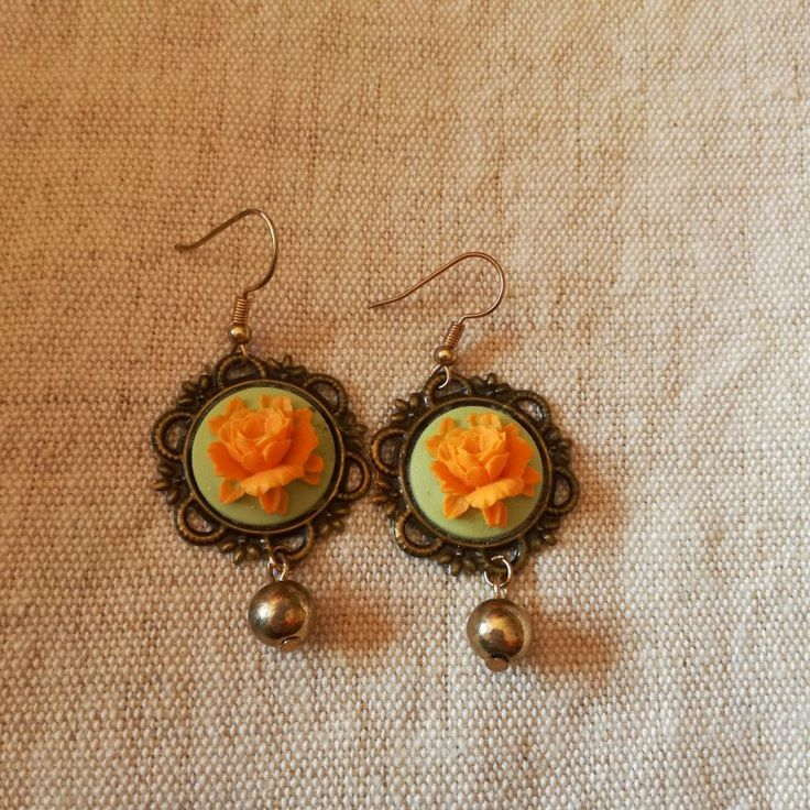 #orecchini #earrings #handmade #fattoamano #vintage #paris #rose #teal #gold #rosegold #love #antique #cammeo #victorianage