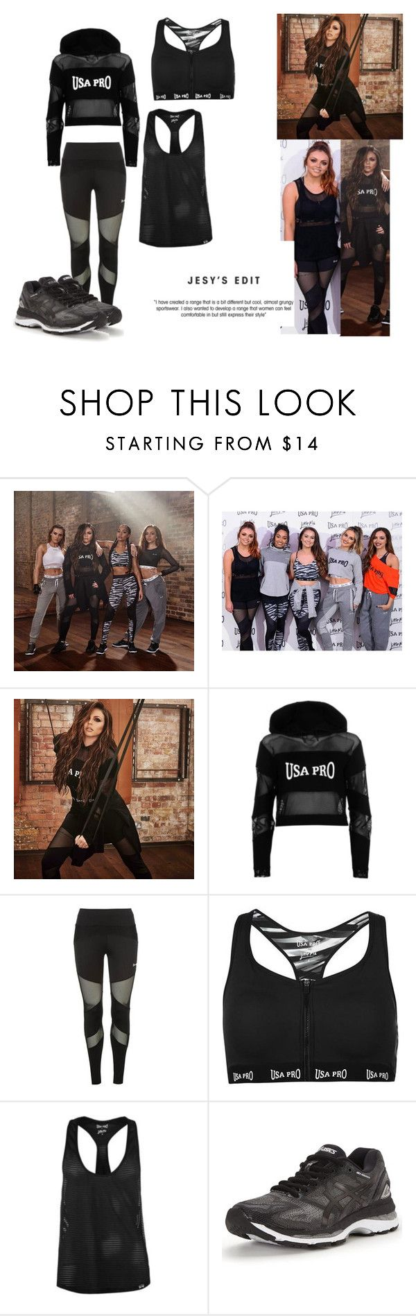 """Little Mix USA PRO(Jesy)"" by jamiehemmings19 ❤ liked on Polyvore featuring USA Pro and Asics"