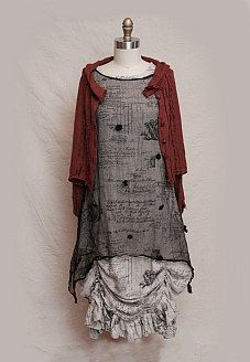 this site  is wonderful for this style of garment lots of looks and great linen to admire Ivey Abitz Fall - Look No. 4