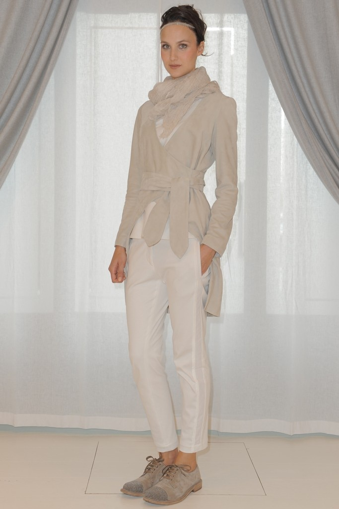 Brunello Cucinelli RTW Spring 2013 - They just nail slim layering with neutrals