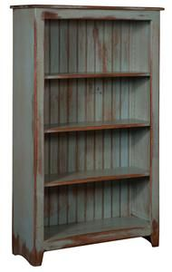 "Amish Primitive Pine Bookcase 60"" Width"
