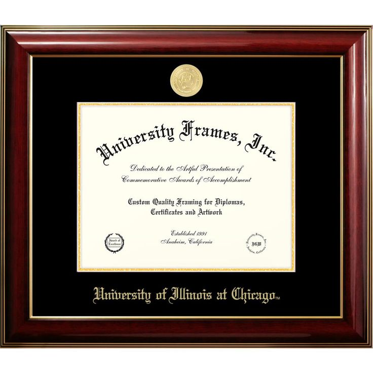 University of Illinois at Chicago Classic Diploma Frame