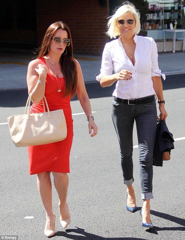 New bestie alert! Kyle Richards (left) and Yolanda Foster headed out together for mani-pedis on Wednesday after the Real Housewives Of Bever...