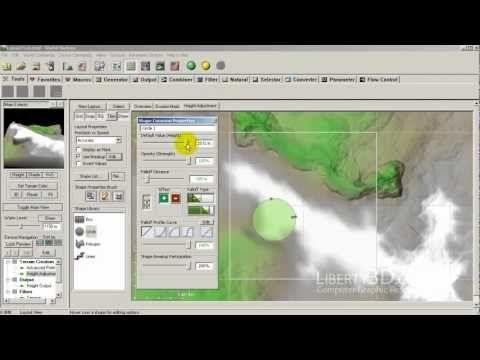 World Machine - Layout Generator for terrain modification - YouTube