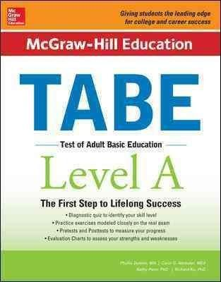 Now updated! Expert preparation for the TABE exam that is the first step to lifelong success Whether you're looking to quality for a government job, to launch a career with a private company, or to de