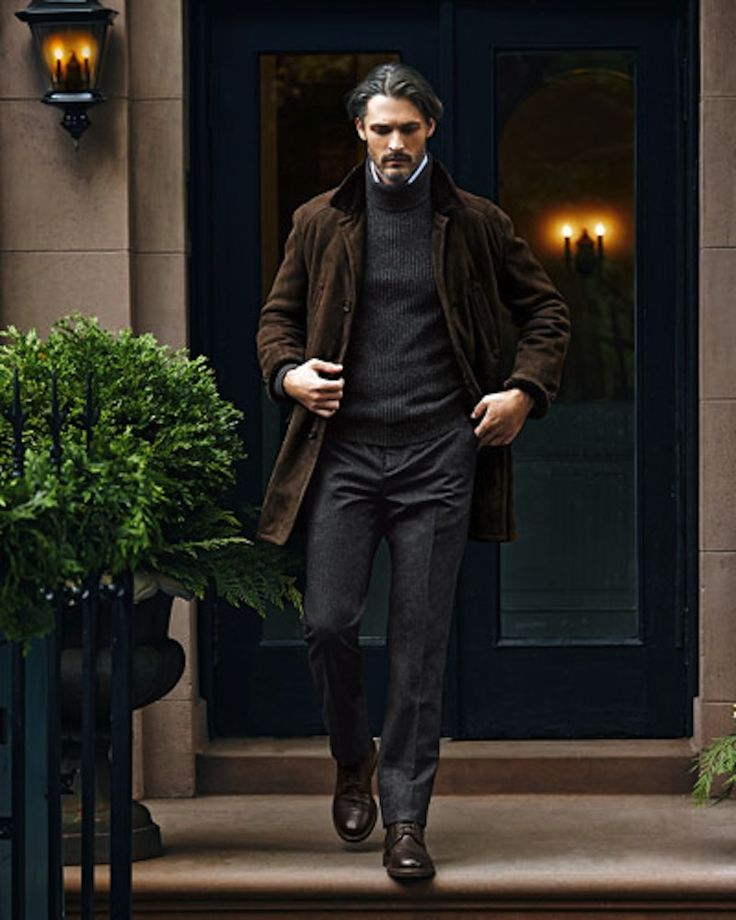refinedcoast:  A stately mix of brown & charcoal tones by Cucinelli.