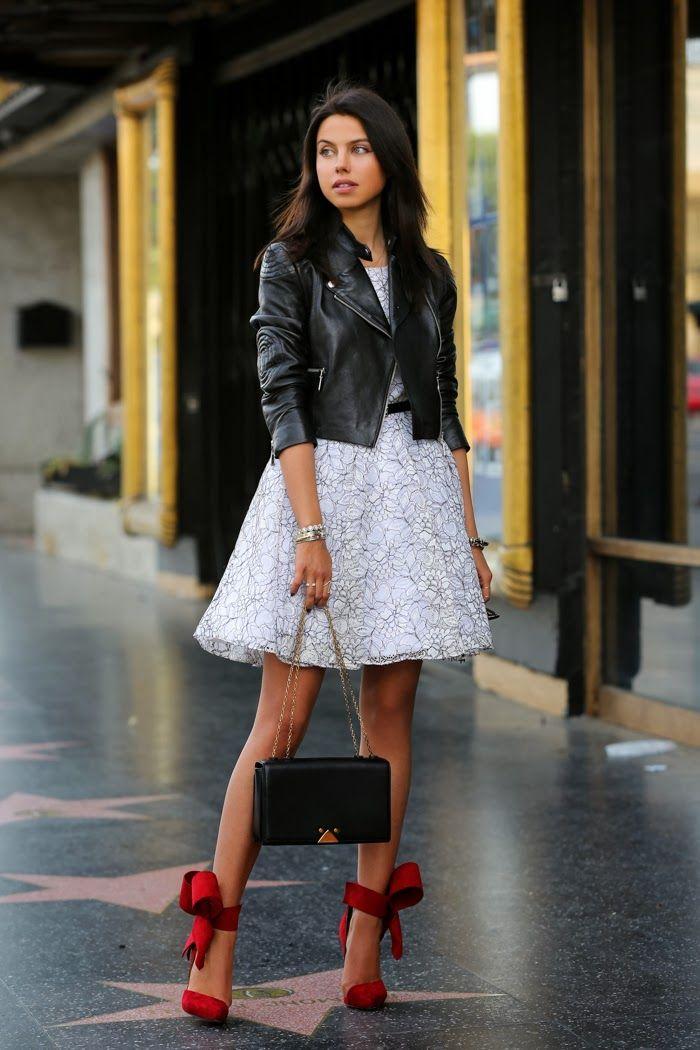 VivaLuxury - Fashion Blog by Annabelle Fleur: BLACK, WHITE & RED