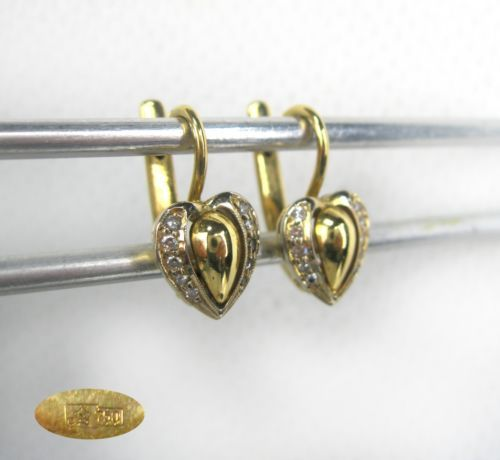 Details about Vintage EARRINGS HEARTS 14K ROSE GOLD 583 Star