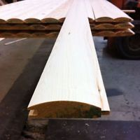 PINE LOGLAP TIMBER CLADDING (85x22)