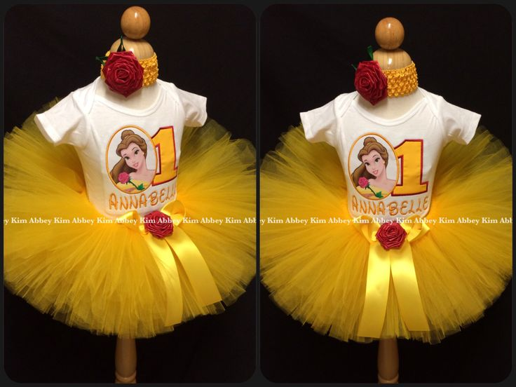 Princess Belle tutu set age name rose red or pink by Abbeykim1 on Etsy https://www.etsy.com/listing/189329837/princess-belle-tutu-set-age-name-rose