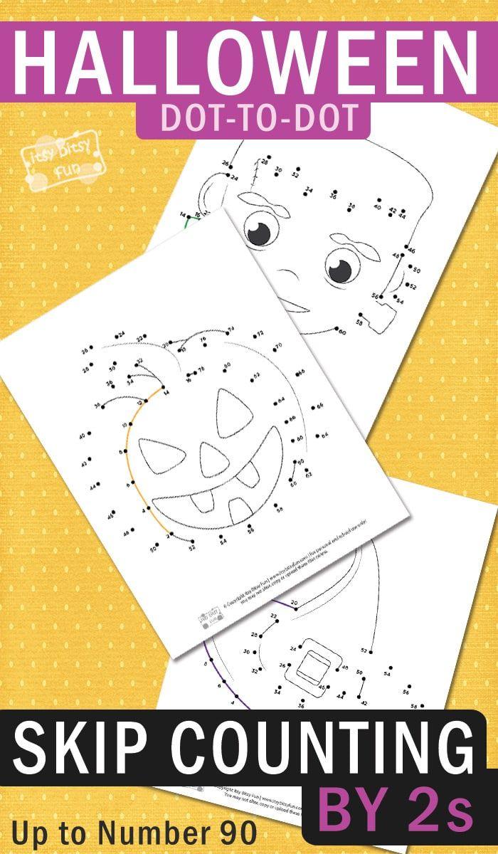 Halloween Dot To Dot Skip Counting Worksheets By 2s Itsybitsyfun Com Halloween Counting Halloween Preschool Halloween Math [ 1200 x 700 Pixel ]