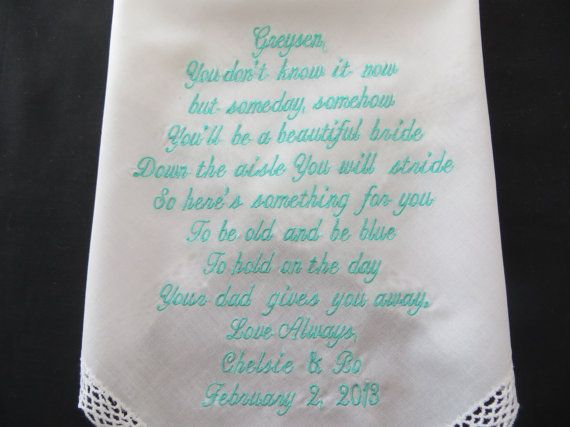 Flower Girl Lacy Hanky. Personalized by fivepetalsembroidery