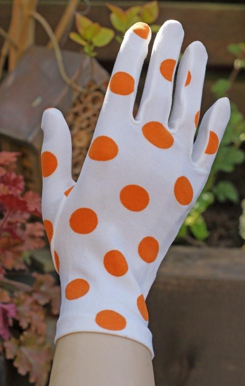 Sixties Gloves - Orange Polka Dots. Moda VintageLunaresNaranjaDe ... 1f77df54d789
