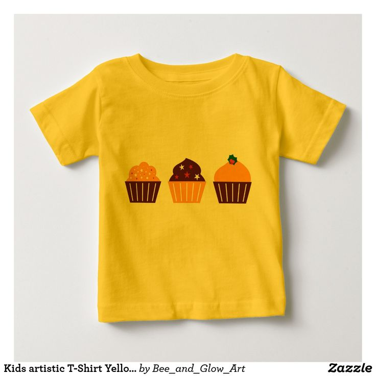 Kids artistic T-Shirt Yellow with MUFFINS