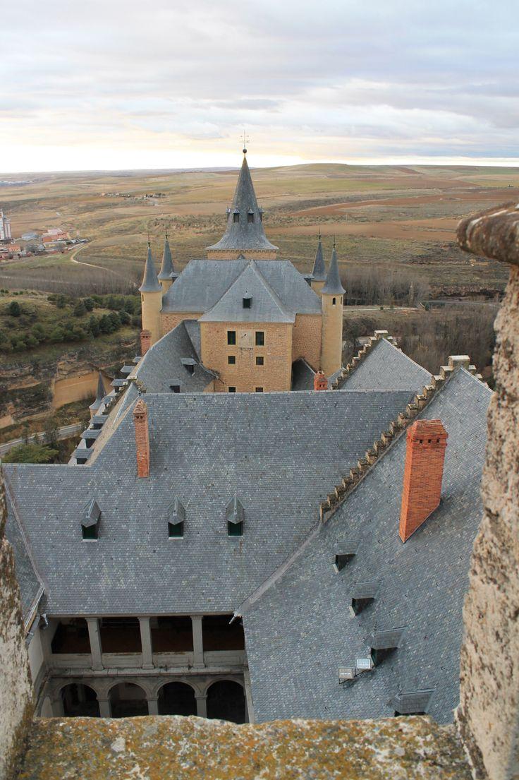 El Alcázar visto desde lo alto de la torre (Segovia)