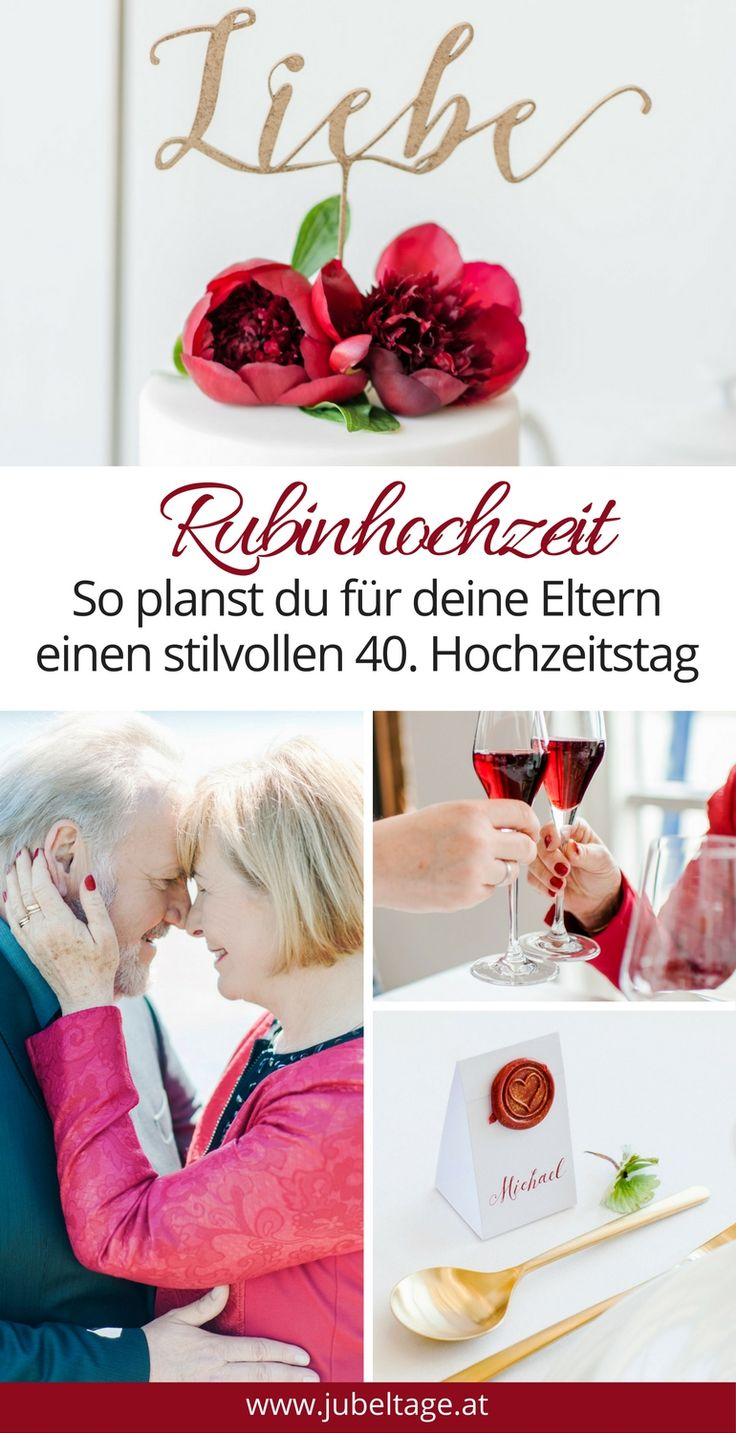 die 25 besten ideen zu rubinhochzeit auf pinterest 50th. Black Bedroom Furniture Sets. Home Design Ideas
