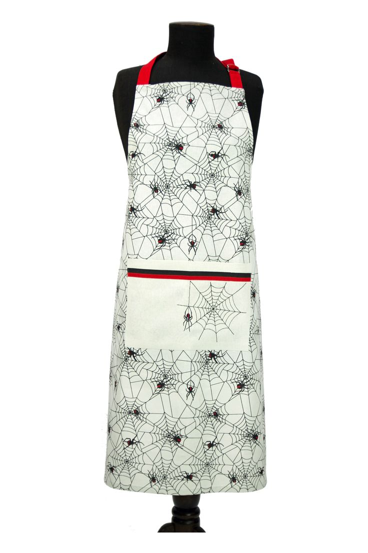 Red Back cotton apron