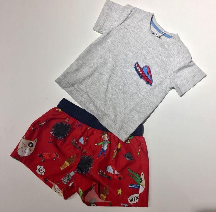 #charlottewix#ss17#boy#t-shirt#swimmingtrunks#red#car#fashiondesign#babyfashion#babyboy#newcollection#kids