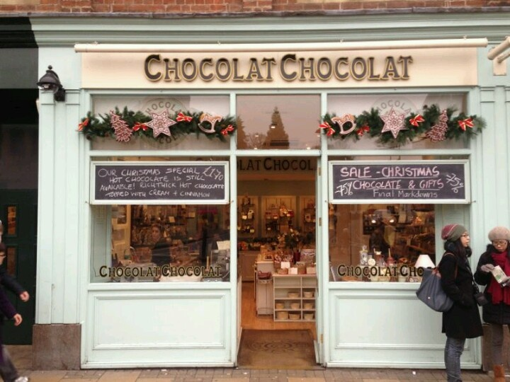 Our students love this chocolate shop in Cambridge city centre