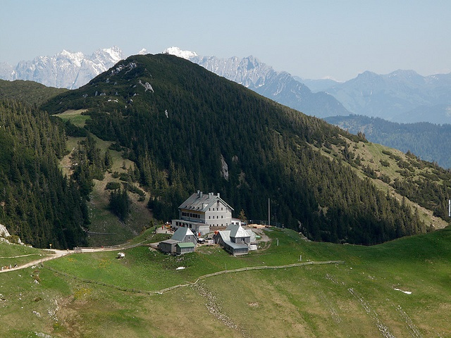 Das Rotwandhaus, reached after a long hike, near Tegernsee, south of Munich, Germany