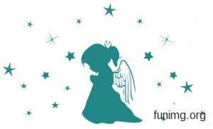 Детские 2-021 | Ангелы трафареты для стен и наклейки для декора