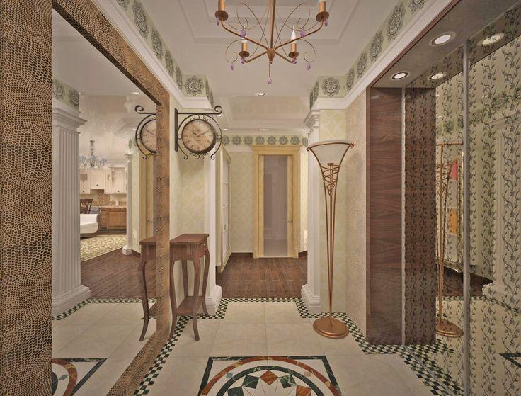 Дизайн прихожей. #inscalestudio #interiordesign #designstudio #interior #design #hall #luxuryinterior #luxury #artdeco / красивые квартиры / дизайн квартир / идеи для дома / интерьер / дизайн студия Петербург / ар-деко