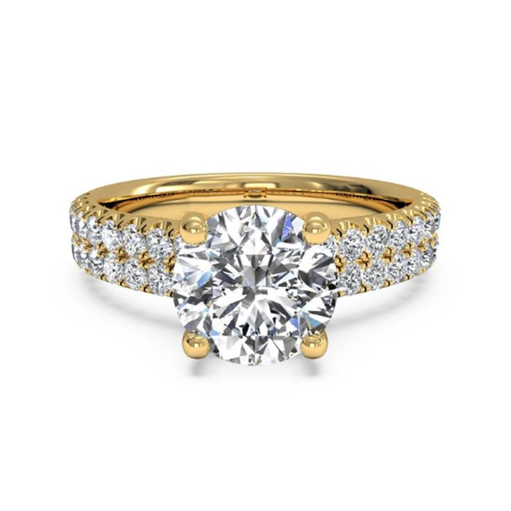 Solitaire 1.40 Ct Round Cut Diamond Engagement Ring Solid 14k Yellow Gold Ring29