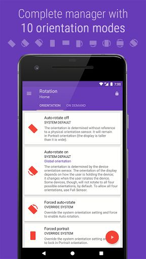 Rotation - Orientation Manager v8.0.1 Full Unlocked   Rotation - Orientation Manager v8.0.1 Full Unlocked Requirements:4.0.3 and up Overview:The most intuitive and customisable Orientation manager for Android.  The most intuitive and customisable Orientation manager for Android. This 7 days trial version allows you to fully evaluate the app and if you are fully satisfied then you can buy Rotation Key from Play store for unlimited usage.  ABOUT:- Rotation - An Orientation Manager is a tool to…