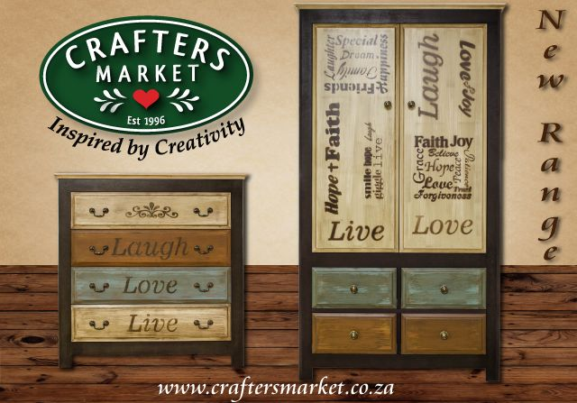 New Furniture range available at Crafters Market...