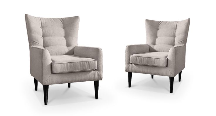 Dale armchair with footrest