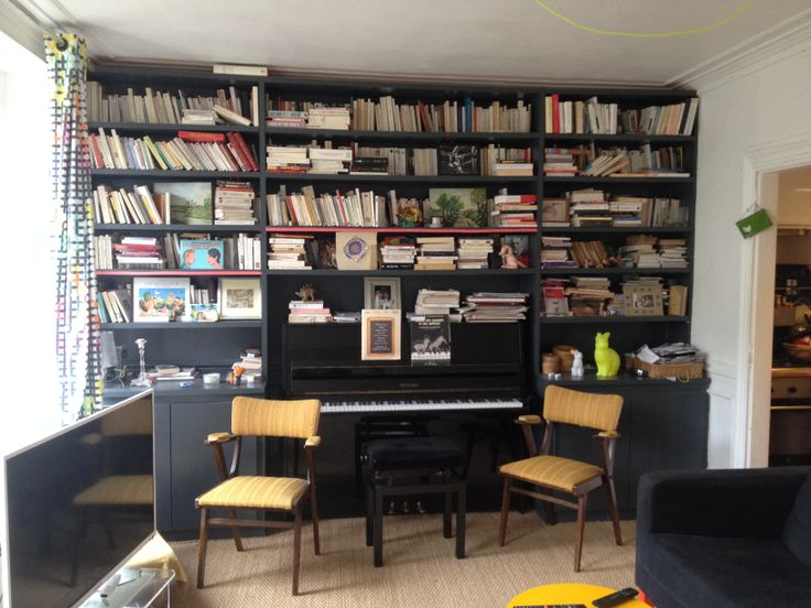 meuble bibliotheque pour piano sur mesure salon pinterest pianos. Black Bedroom Furniture Sets. Home Design Ideas
