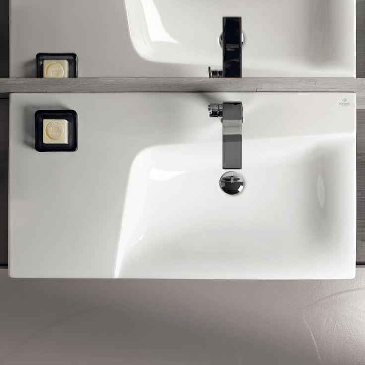 Keramag Xeno² Waschtisch mit Ablagefläche weiß, mit 1 ...