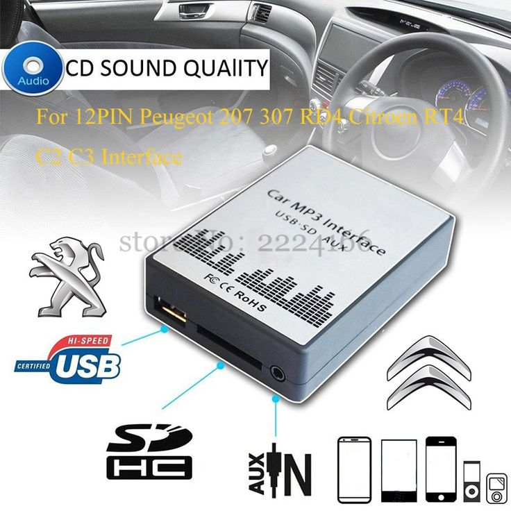 38.18$  Watch more here - USB SD AUX car MP3 music player Adapters CD machine change For Peugeot 207 307 607 807 RD4 Citroen RT4 C2 C3 C4 12PIN Interface   #bestbuy