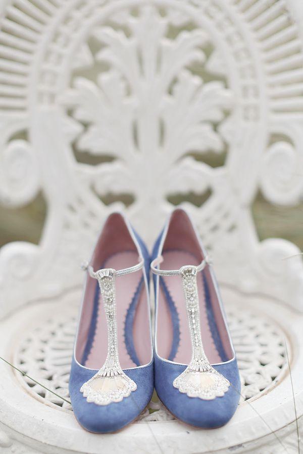 Zapatos de novia azules 2