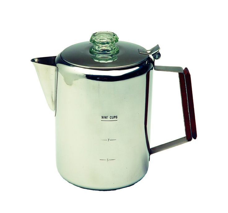 Texsport 9 Cup Stainless Steel Percolator Coffee Maker for Outdoor Camping * Read more  at the image link.