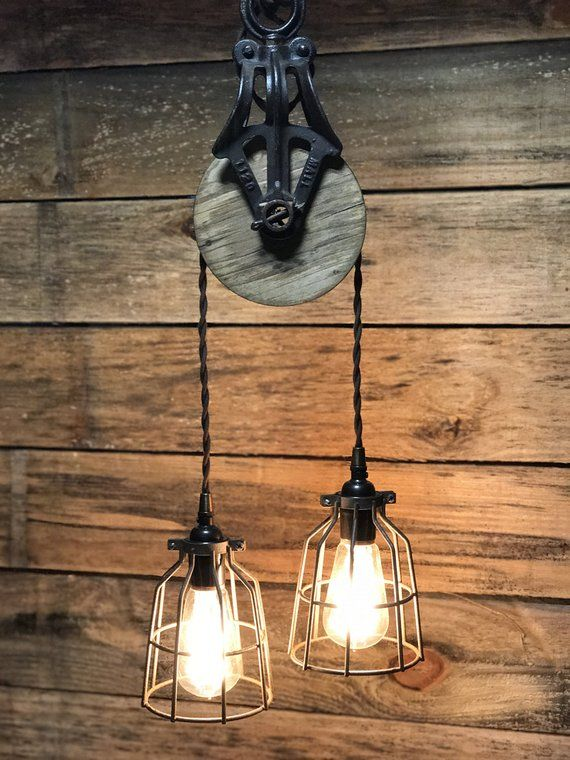 Barn Pulley Pendant Antique Light Fixtures Pulley Light Rustic Lighting
