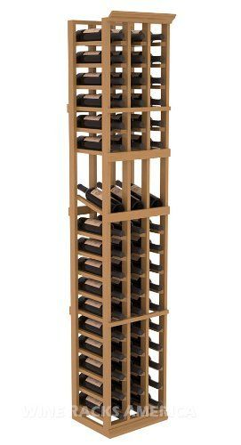"""Five Star Series: 3 Column 51 Bottle Display Wine Cellar Rack in Pine with Oak Stain +Satin Finish by Wine Racks America®. $306.19. 15° industry-leading high reveal display. Money Back Guarantee + Lifetime Warranty. Bottle capacity: 51 bottles (750ml). Industry 1-1/2"""" toe-kick keeps your wine off the floor.. Made from eco-friendly wood sources in sustainable forests. 3 ¾"""" wide cubicles for bottle access.. 11/16"""" wood thickness. Designed for 750ml wine bottles. S..."""
