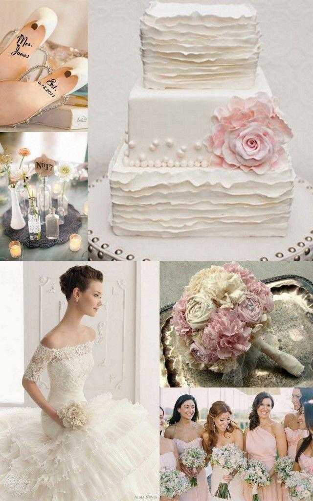 Beautiful rosette + ruffle cake