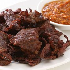 It's every low-carb dieter's dream -- homemade beef jerky. If you're a fan of this traditional salty snack, you'll quickly discover this recipe is fit to be dried. Make yourself a batch today.
