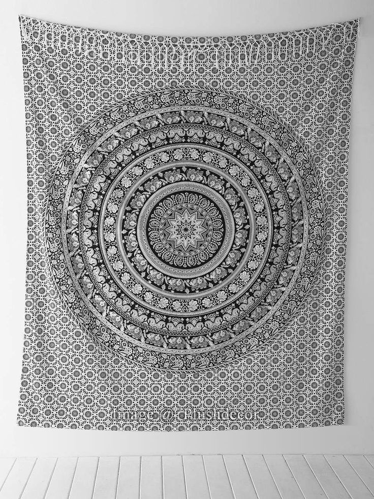 Trendy Tapestry Black and White Hippie Throw Wall Art Beach Towel Bedspread