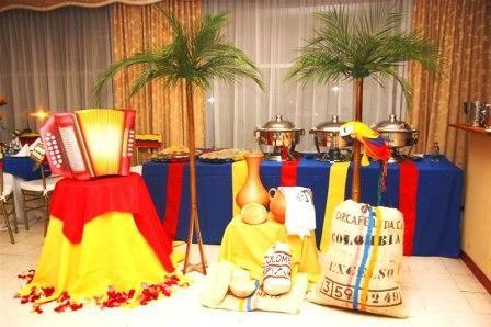 Decoración de mesa para fiesta temática colombiana. #FiestaTematicaColombiana