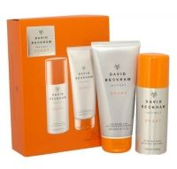 Beckham Sport Duo Gift Set   David Beckham Instinct was introduced in 2005, the first fragrance launch by the international football icon. Masculine and sexy, it's a wearable fragrance for any man who takes a pride in his appearance. David Beckham Instinct Sport opens with head notes of orange, mandarin and Italian bergamot. A heart of cardamom, pimento and star anise lead into a base of vetiver, white amber and patchouli.