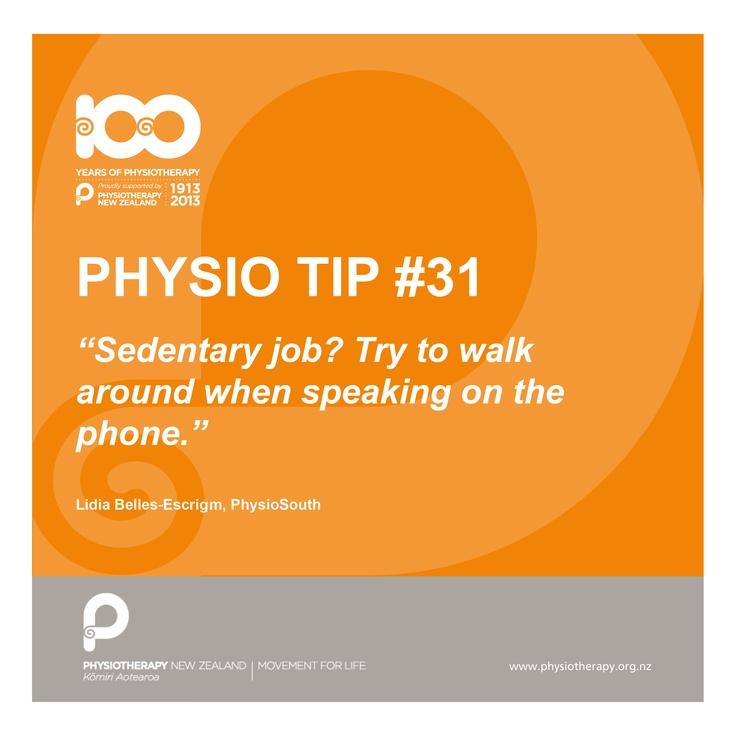 walk around #physiotips