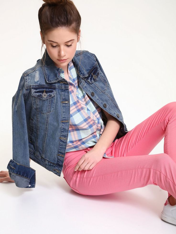 Comanda online, Pantaloni conici cu talie joasa Top Secret roz cu buzunare. Articole masurate, calitate garantata!
