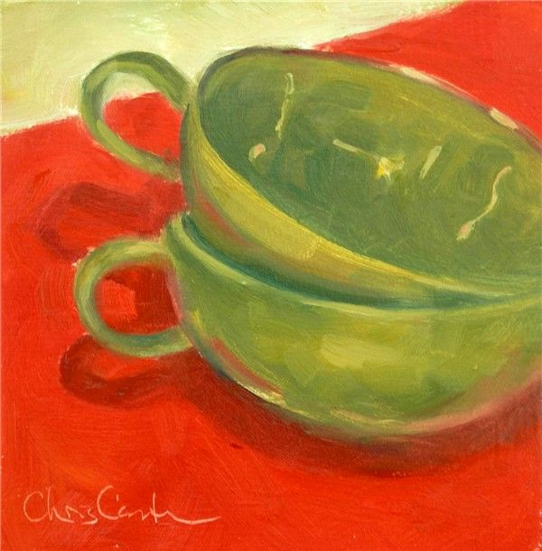 Soup Cups Daily Paintworks Challenge 10 Oil Painting