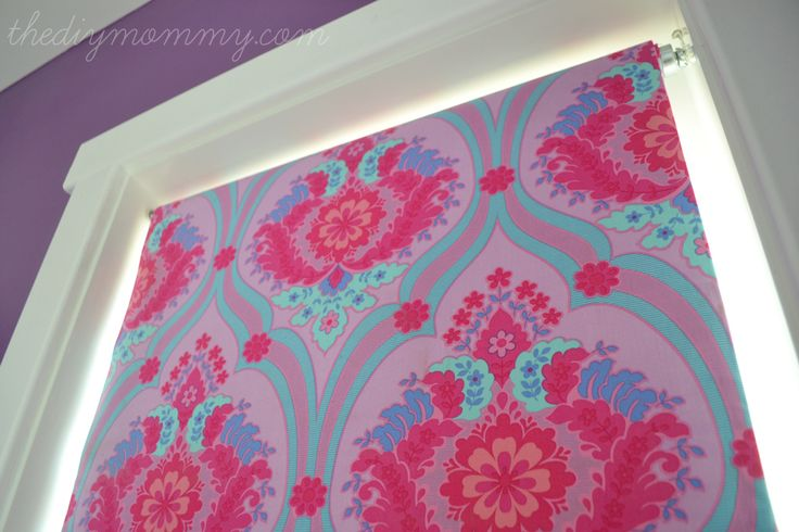 diy NO SEW window treatments | DIY No-Sew Fabric Covered Blackout Roller Blinds by The DIY Mommy ...
